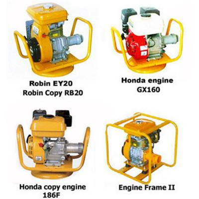 Similar Robin gasoline engine 5HP with frame and coupling for concrete vibrator shaft for light construction machinery